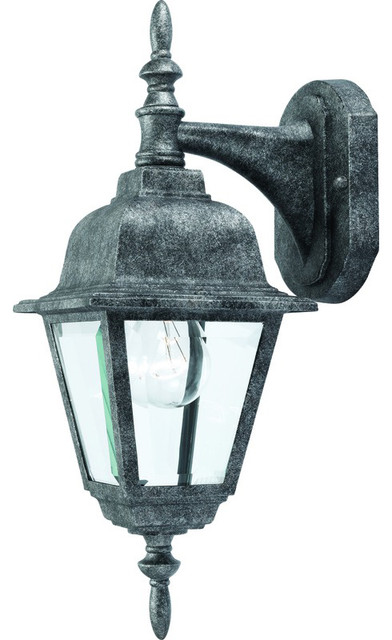 Vintage Exterior Wall Sconces : Antique Silver Outdoor Patio / Porch Exterior Light Fixture - Traditional - Outdoor Wall Lights ...