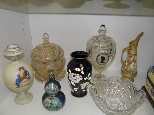 Art Glass, Stained Glass, Art Pottery and Fine porcelain traditional-home-decor