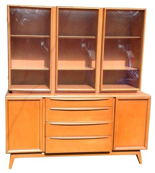 Pre-owned Heywood Wakefield China Cabinet and Buffet midcentury-china-cabinets-and-hutches