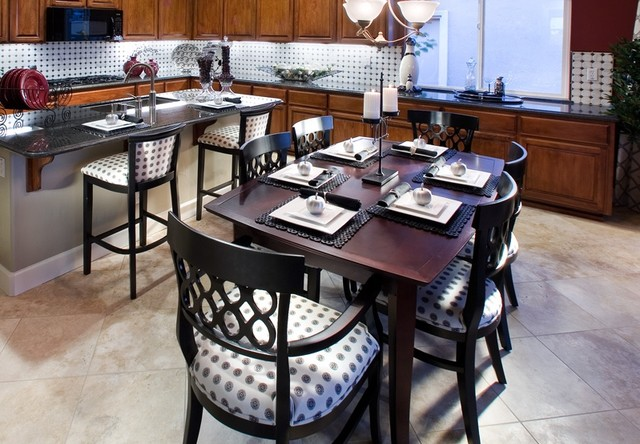 Model Homes eclectic-dining-room
