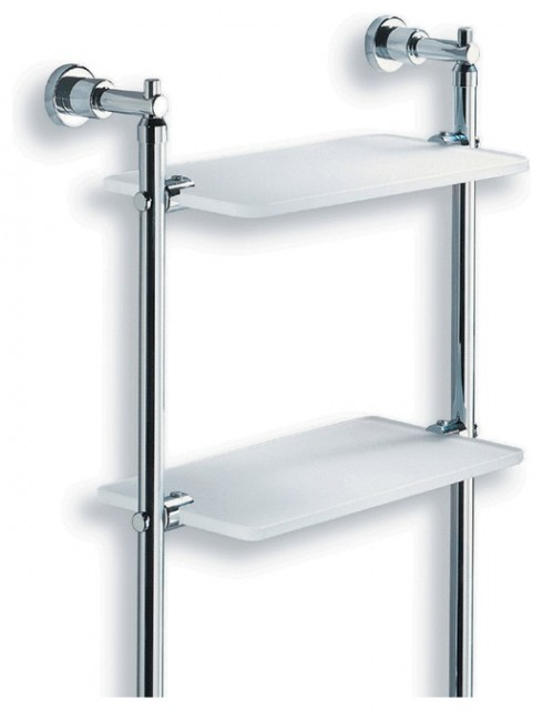 Lacava Dodo Metal And Glass Bathroom Wall Shelf Modern Towel Bars And Hooks Other Metro