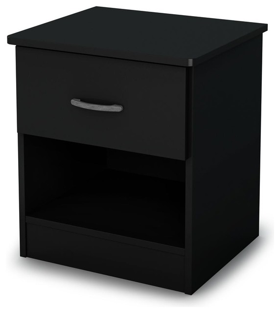 Contemporary Night Stand In Black Contemporary