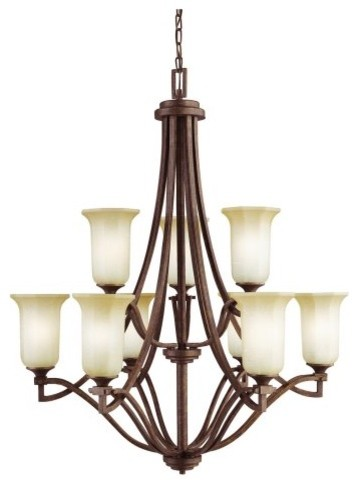 Kichler Lighting Kichler Brewton 42045AGZ Chandelier - 31.5 in. - Aged Bronze traditional-chandeliers