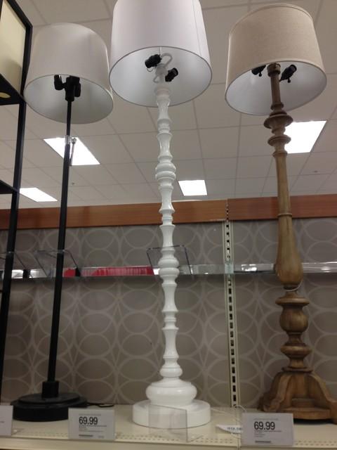 White Floor Lamp Target Threshold