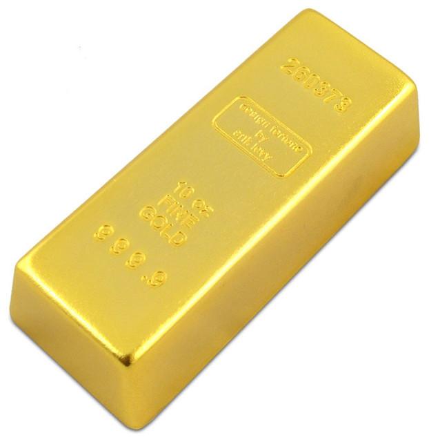 Gold Bar Paperweight-Doorstop eclectic-home-decor