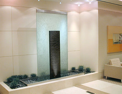 Indoor custom water feature ideas contemporary indoor for Indoor fountain design ideas