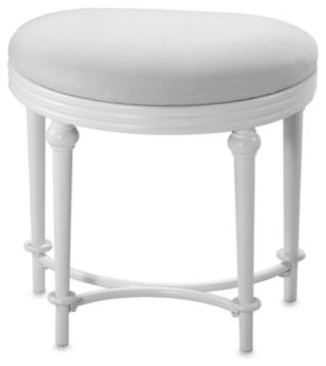 Hillsdale Hampton Kidney Shape Vanity Stool Contemporary Bathroom Stools By Bed Bath Beyond