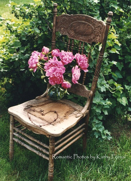 shabby chic vintage garden chair by kathy fornal. Black Bedroom Furniture Sets. Home Design Ideas