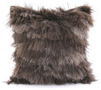 Dransfield & Ross Ostrich Feather Pillow - Taupe eclectic pillows