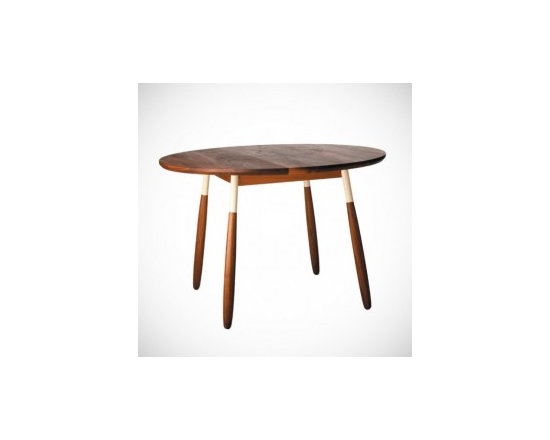 Eco Friendly Furnture and Lighting - Simple. Beautiful. Solid walnut with lacquered steel leg fittings.