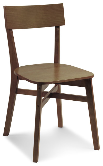 Bell Chair Oak Cinnamon Modern Dining Chairs By