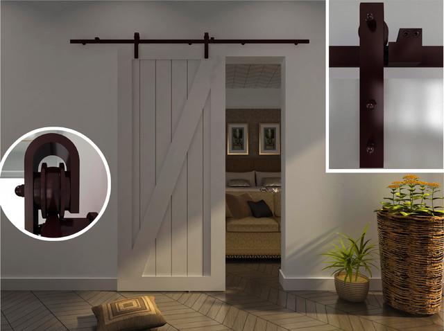 Modern Barn Door Hardware for Wood door - Traditional - Barn Door ...