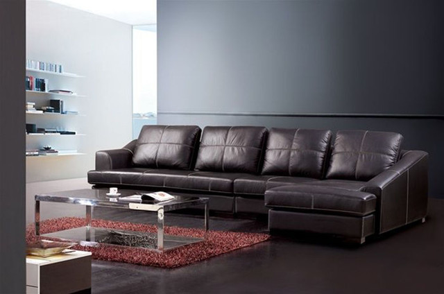 Exquisite Genuine Leather Sectional Contemporary