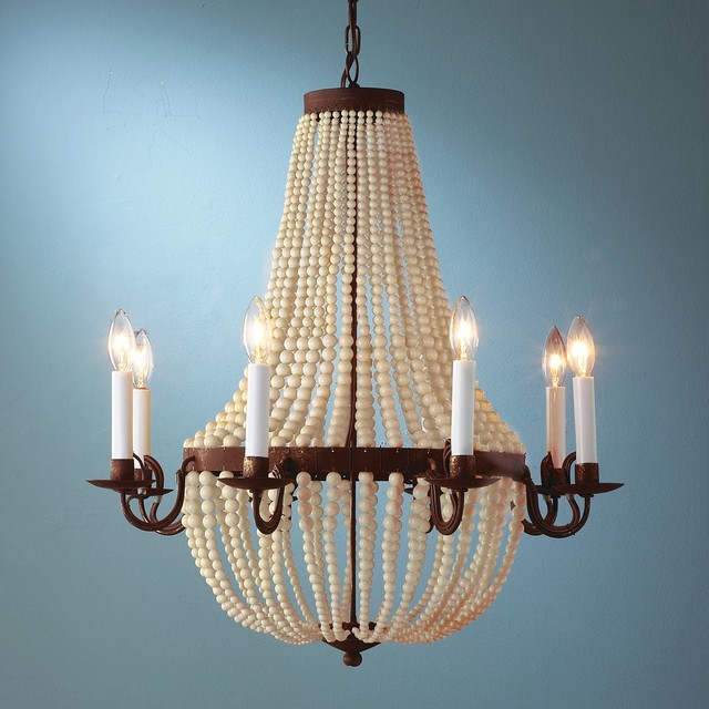 Cream Rusted Bead Chandelier Chandeliers by Shades of
