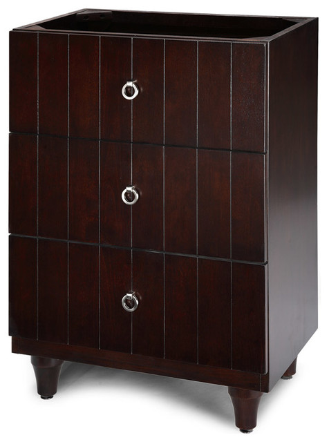 Xylem Capri Bridge Drawer 24 Inch In Dark Espresso Modern Bathroom Vanities And Sink