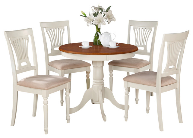 3 Piece Kitchen Nook Dining Set Round Table Plus 2 Chairs