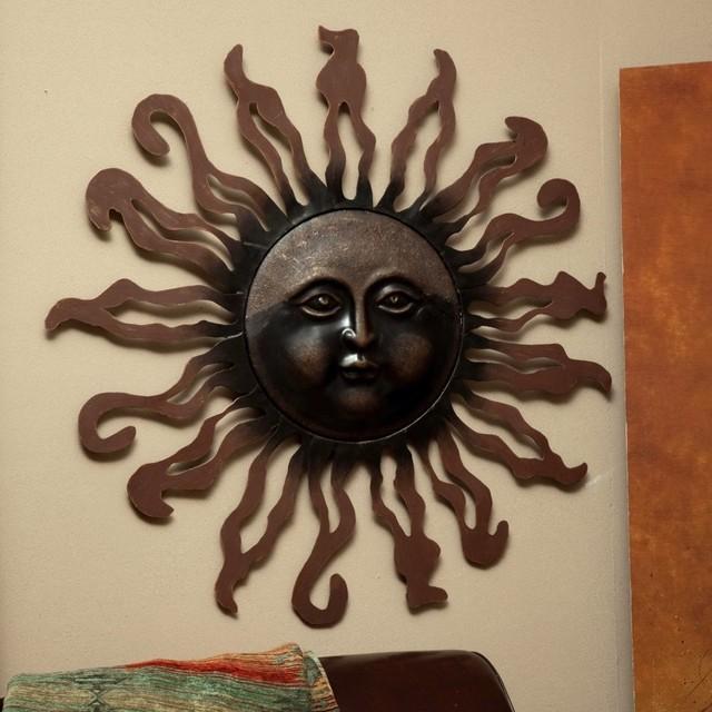 sun metal indoor outdoor wall art modern artwork by