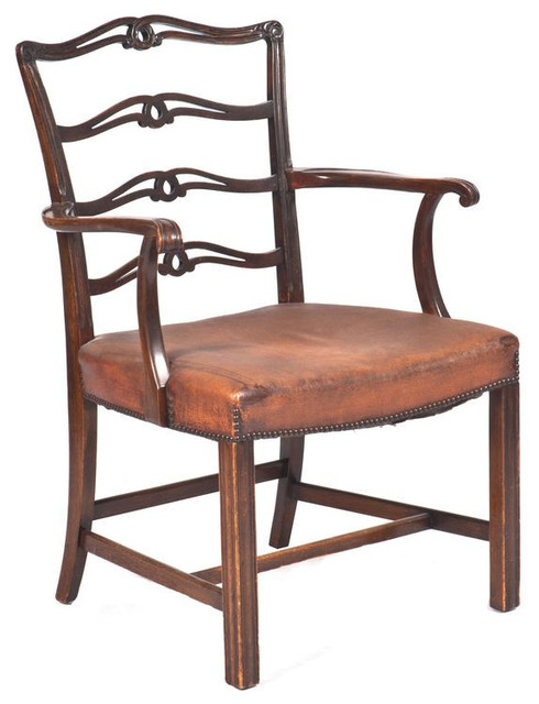 Chippendale style ladderback armchair 1 500 est retail chairs
