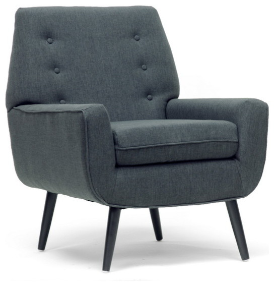Baxton Studio Levison Gray Linen Modern Accent Chair midcentury-armchairs-and-accent-chairs