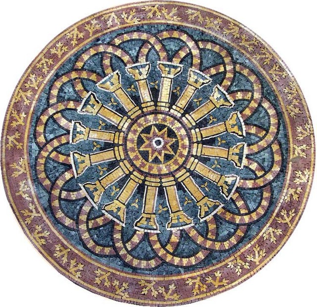 Custom Design Handcut Marble Mosaic Medallions
