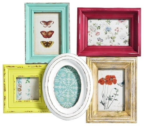 Multi Coloured Cluster Frame Contemporary Picture