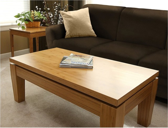 Bamboogle Rio Bamboo Large Coffee Table - Honey modern-coffee-tables