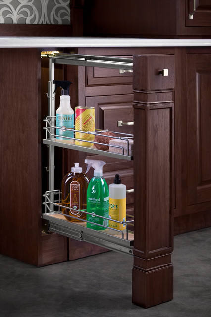 Hafele narrow base pull out kitchen drawer organizers for Very narrow kitchen cabinet