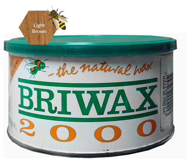 Briwax Toulene Free 16oz (available in 7 colors), Light Brown, 16 Oz traditional-housekeeping
