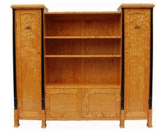 A Swedish Birchwood Biedermeier Bookcase circa 1900