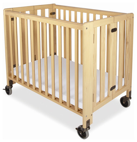 Hideaway Full Size Folding Crib modern-cribs