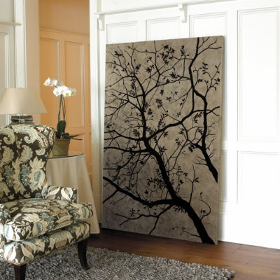 Foliage by Night Hand Painted Canvas contemporary-artwork
