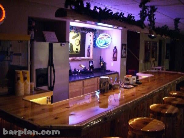Easy Home Bar Plans  - Home Bar samples. traditional basement