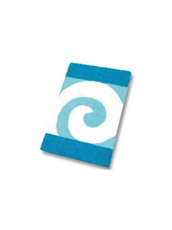 Filou Contemporary Swirl Bath Rug from Vita Futura - Contemporary bathroom rug featuring a swirl pattern.  Available in 5 color choices and in 6 sizes including matching solid colored elongated toilet lid cover.  Large bath rug measuring 23.6 x 39.4 in. $54.99.