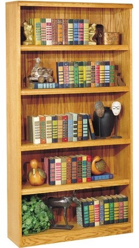 Martin Home Furnishings Waterfall Wood Bookcase traditional-bookcases