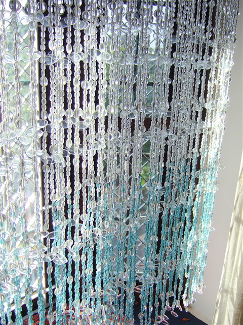 Glass bead curtain contemporary screens and room dividers other - Glass beaded door curtains ...