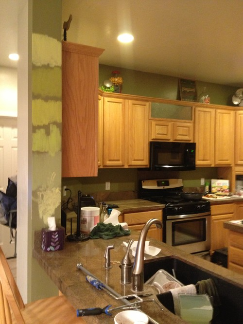 Best Paint Color With Honey Oak Cabinets