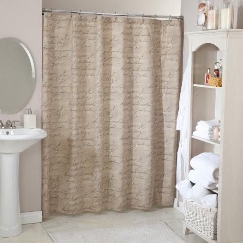 Pen Pal Parchment Shower Curtain