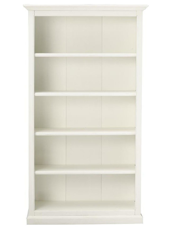 Martha Stewart Living Ingrid Bookcase, Rubbed Ivory, 5 Shelf -