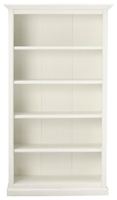 Martha Stewart Living Ingrid Bookcase, Rubbed Ivory, 5 Shelf - Traditional - Bookcases - by Home ...