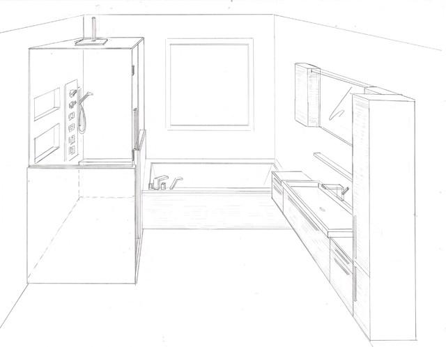 Dessin salle de bain - Salle de bain modern ...