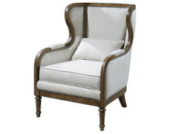 Neylan Linen Wing Chair traditional-armchairs