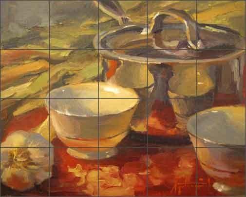 ceramic tile mural backsplash gutting kitchen art x