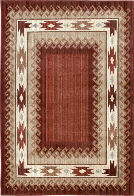 "Orian Anthology Durango 2'3"" x 8' Brown, Red Rug contemporary-rugs"