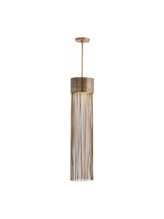 Arteriors Berti 2 Light Solid Brass/Glass Pendant - Berti 2 Light Solid Brass/Glass Pendant