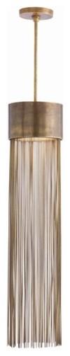 Arteriors Berti 2 Light Solid Brass/Glass Pendant contemporary-pendant-lighting
