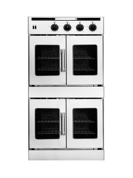 """American Range 30"""" Double French Door Gas Wall Oven, Stainless 