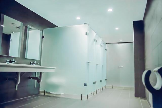 Zinda Restaurant - Raleigh contemporary-bathroom