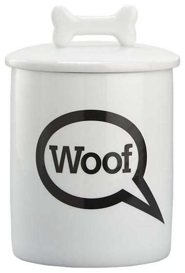 """Woof"" Treat Jar contemporary-pet-supplies"