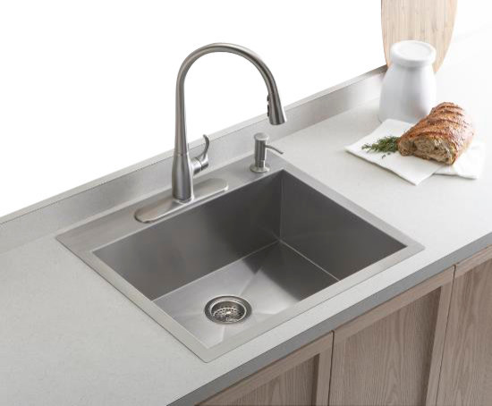 KOHLER K 3822 4 NA Vault Top Mount Undermount Single Bowl