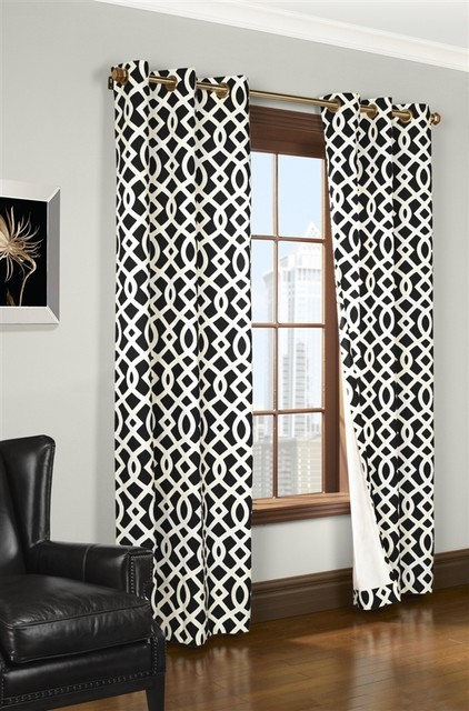 Modern Retro Geometric Thermal Insulated Curtain Curtains Austin By Paul 39 S Home Fashions